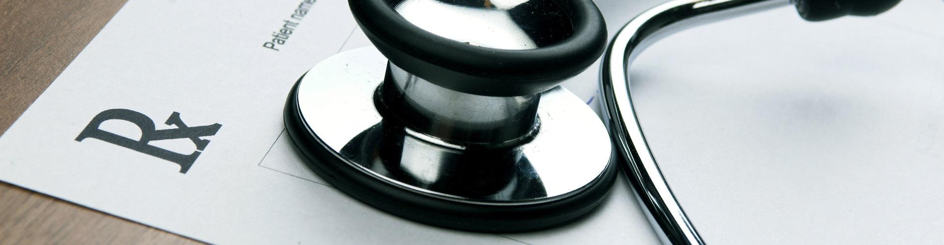 Photo of a prescription slip